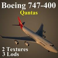 boeing 747-400 qan 3d model