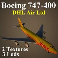 x boeing 747-400 dhl