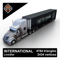 2013 international lonestar 3d model