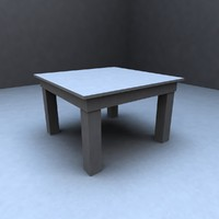3d model of kitchen table