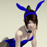 3d japanese girl natsumi bunny