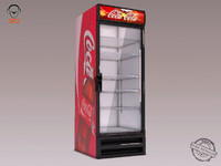 3dsmax coca-cola refrigerator