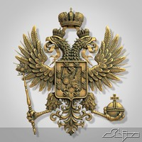 romanov coat arms 3d max