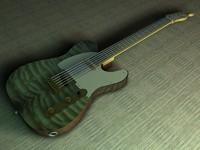 c4d fender telecaster guitar