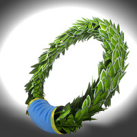 laurel silver wreath