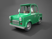cartoon toon car obj