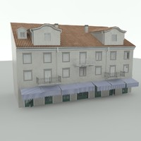 old building 18th century 3d model