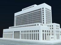 los angeles court house 3d max
