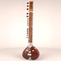 3d sitar stringed