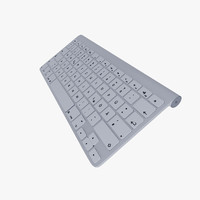 3d model of apple wireless keyboard
