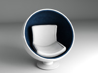 sphere chair 3ds