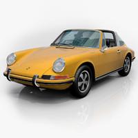 porsche 911 targa 1968 3d model