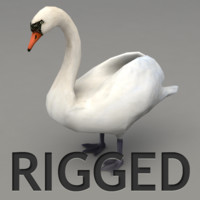 3ds max rigged swan