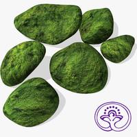 3d model mossy stones
