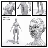 3ds max female base mesh human