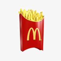 3d french fries