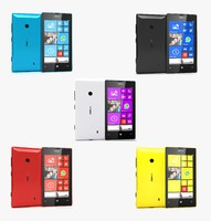 3d nokia lumia 520 colors model