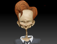 caricature conan o brian 3d model