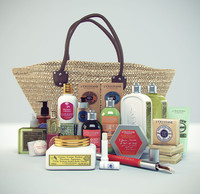 l occitane gift basket 3d model