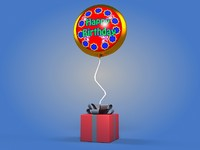 birthday balloon 3d model