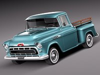 3d american v8 antique 1957 chevrolet