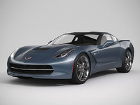 chevrolet corvette 2014 3d model
