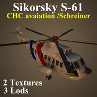 3ds max sikorsky chc helicopter