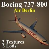 3d boeing 737-800 ber model