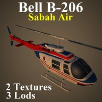 bell sax helicopter 3d model