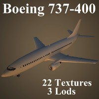3ds max boeing 737-400 air