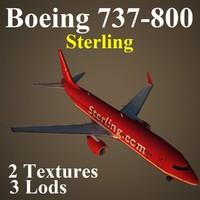 max boeing 737-800 snb