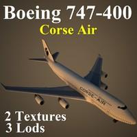 boeing 747-400 csa 3d model