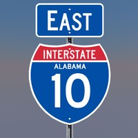 interstate 10 signs alabama c4d