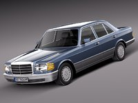 sedan mercedes mercedes-benz luxury 3d max