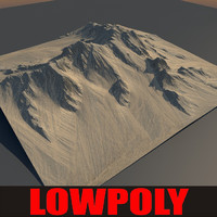 Lowpoly Mountain MtnN1
