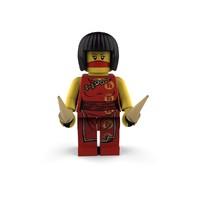 3d lego ninja girl