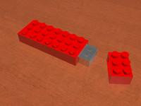 free lego usb 3d model