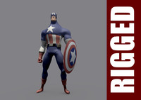 3ds max captain america rig