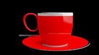 3d model of cup