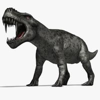 3d dinosaurs gorgonops model
