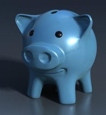 piggy bank statue - ceramic