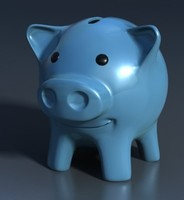 piggy bank statue - ceramic