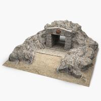 3ds max cave-entrance cave entrance