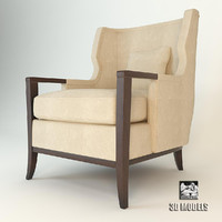 3ds max manor wing chair