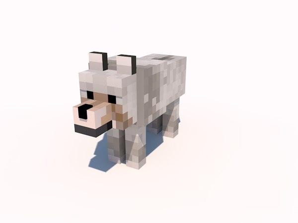 Minecraft Wolf Png