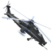 caic wz-10 attack helicopter 3d model