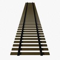 railroad track 3d obj
