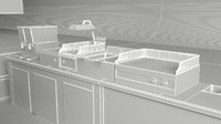 cafe kitchen 3d model