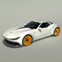 3d model concept kukhri gt sports car