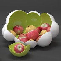 3ds max accessories apple fruit